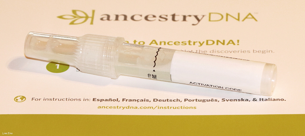 Ancestry DNA kit and test tube