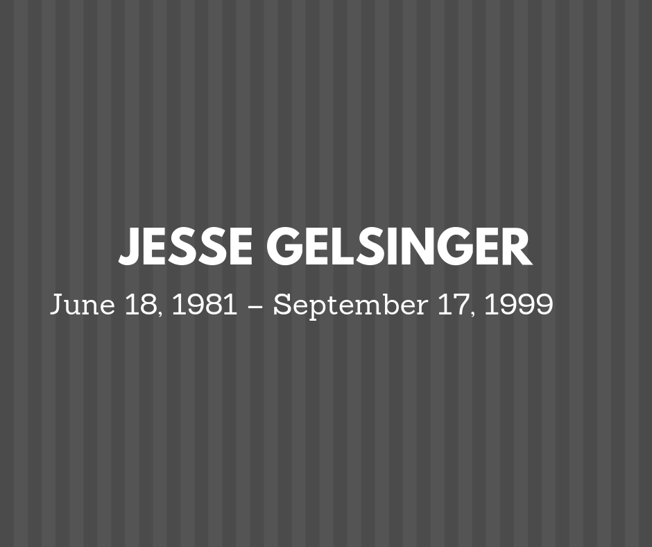 Image of Jesse Gelsinger name and dates in which he lived.