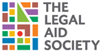 The Legal Aid Society's logo. Several shapes, such as triangles, circles, squares, and rectangles, in various colors form a mosaic.