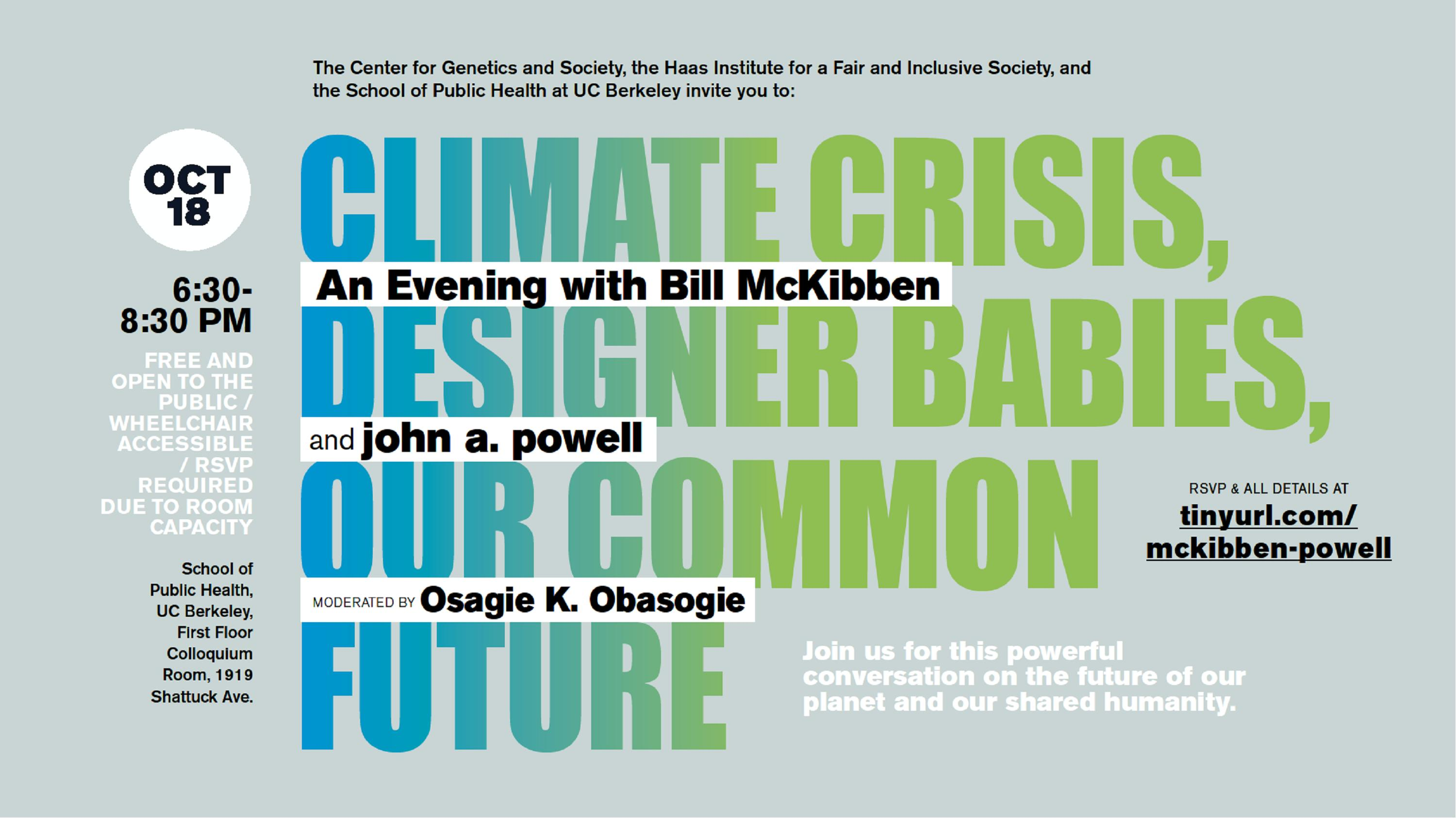Announcement to Climate Crisis event on October 18, 2019
