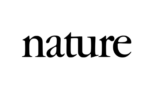 "logo text from the journal ""Nature"""