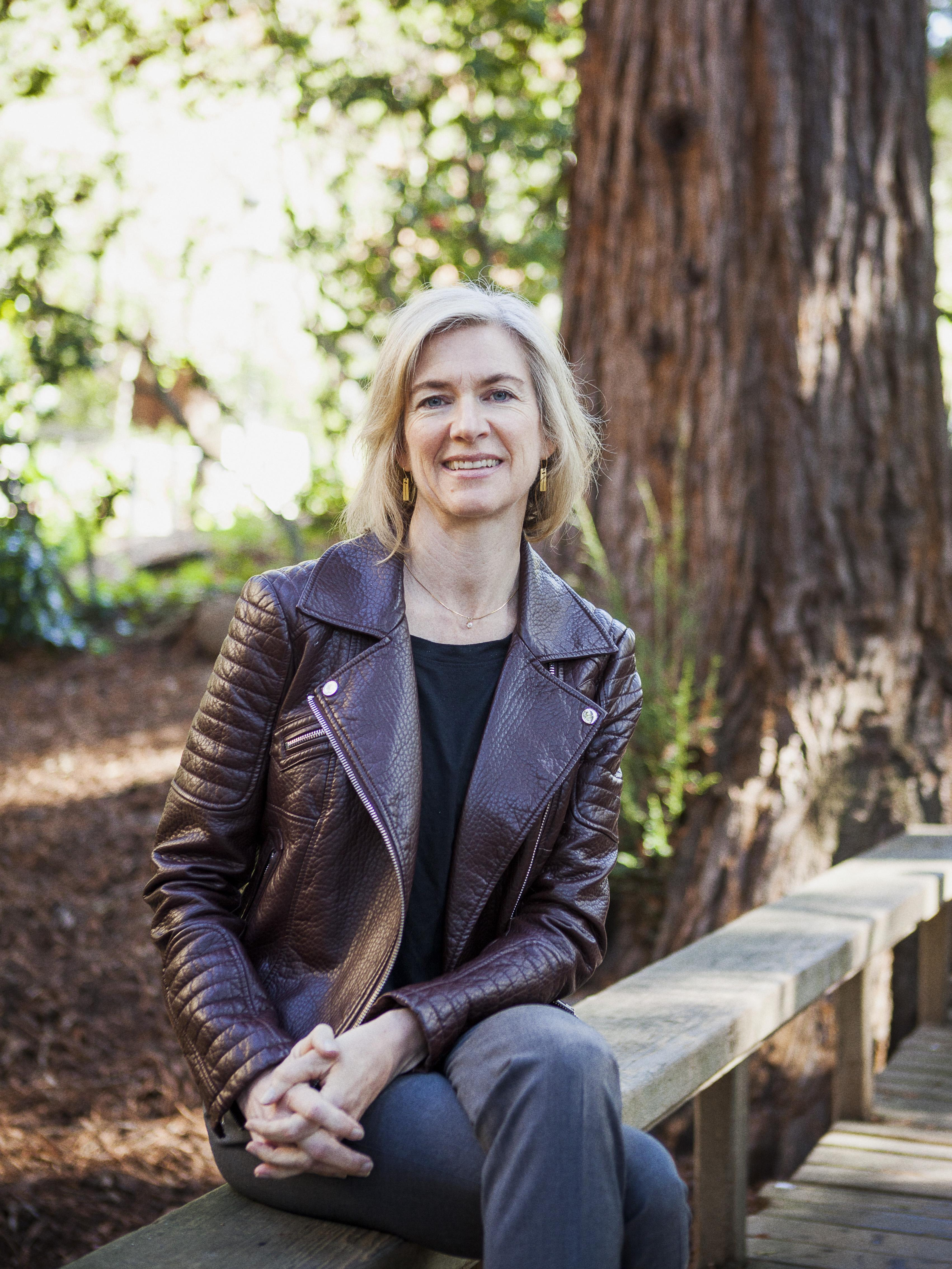 A photo of Jennifer Doudna on the UC Berkeley campus.