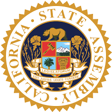 gold and blue state seal of California