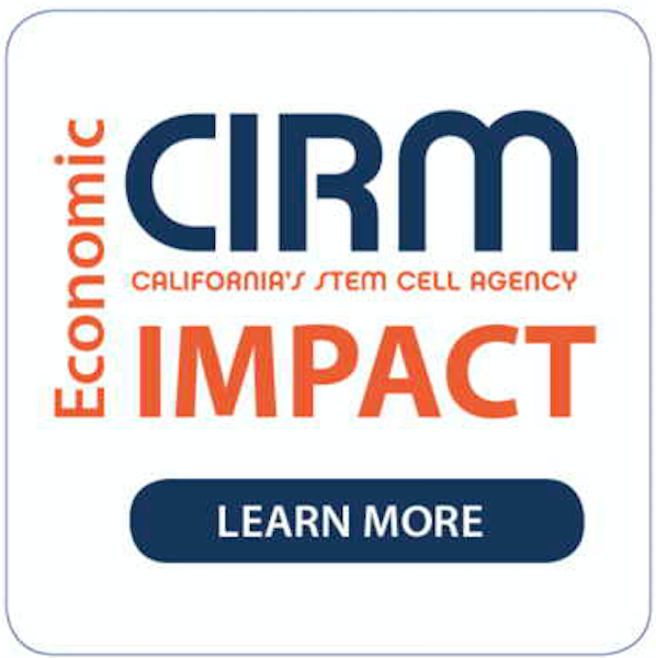 Image advertising the CIRM Economic Impact Report