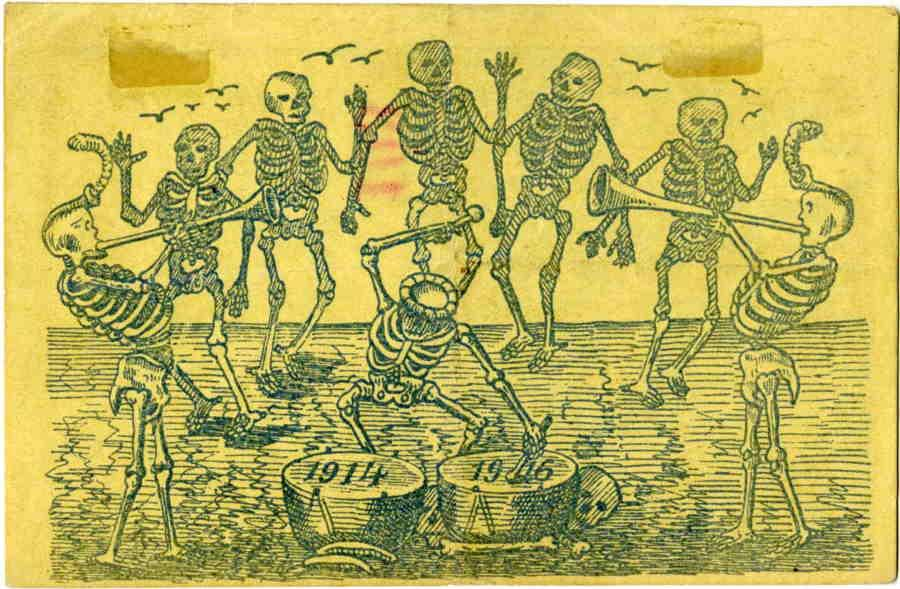 Dancing skeletons from 1916
