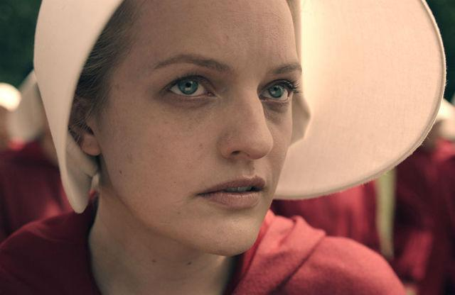 "Elisabeth Moss as Offred in ""The Handmaid's Tale"" (Hulu)"