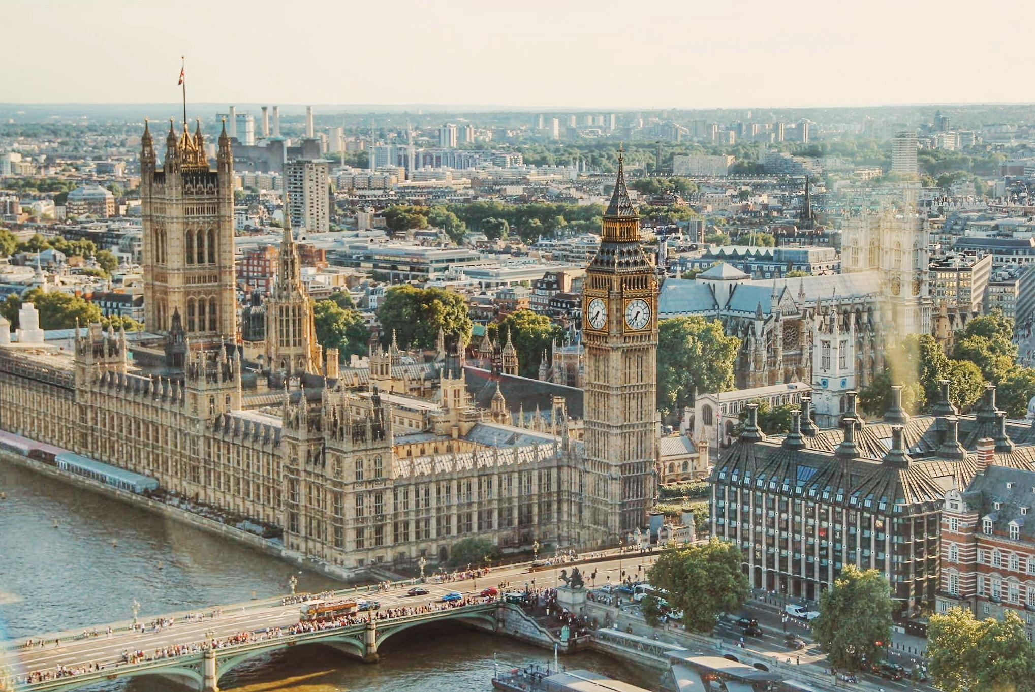 Image of Big Ben and surroundings in London, England