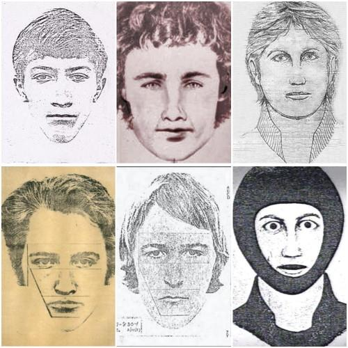 Sketches of the suspect