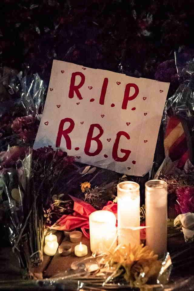 A candle-lit memorial for RGB