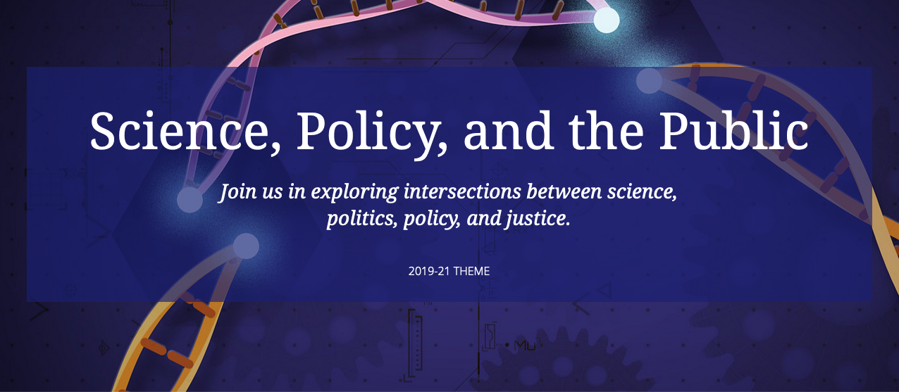 """Science, Policy, and the Public"" Event Banner"