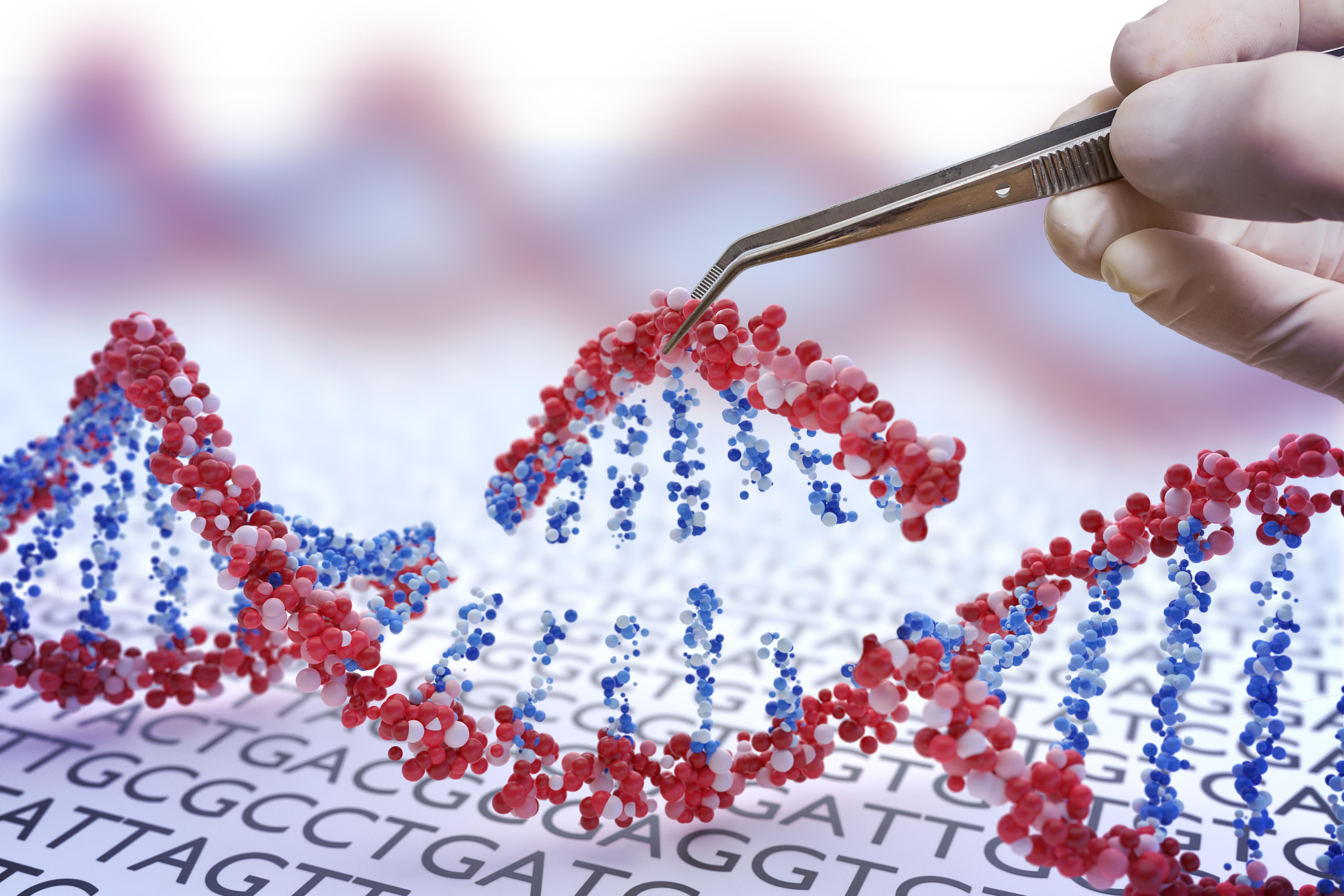 Artist's impression of gene therapy
