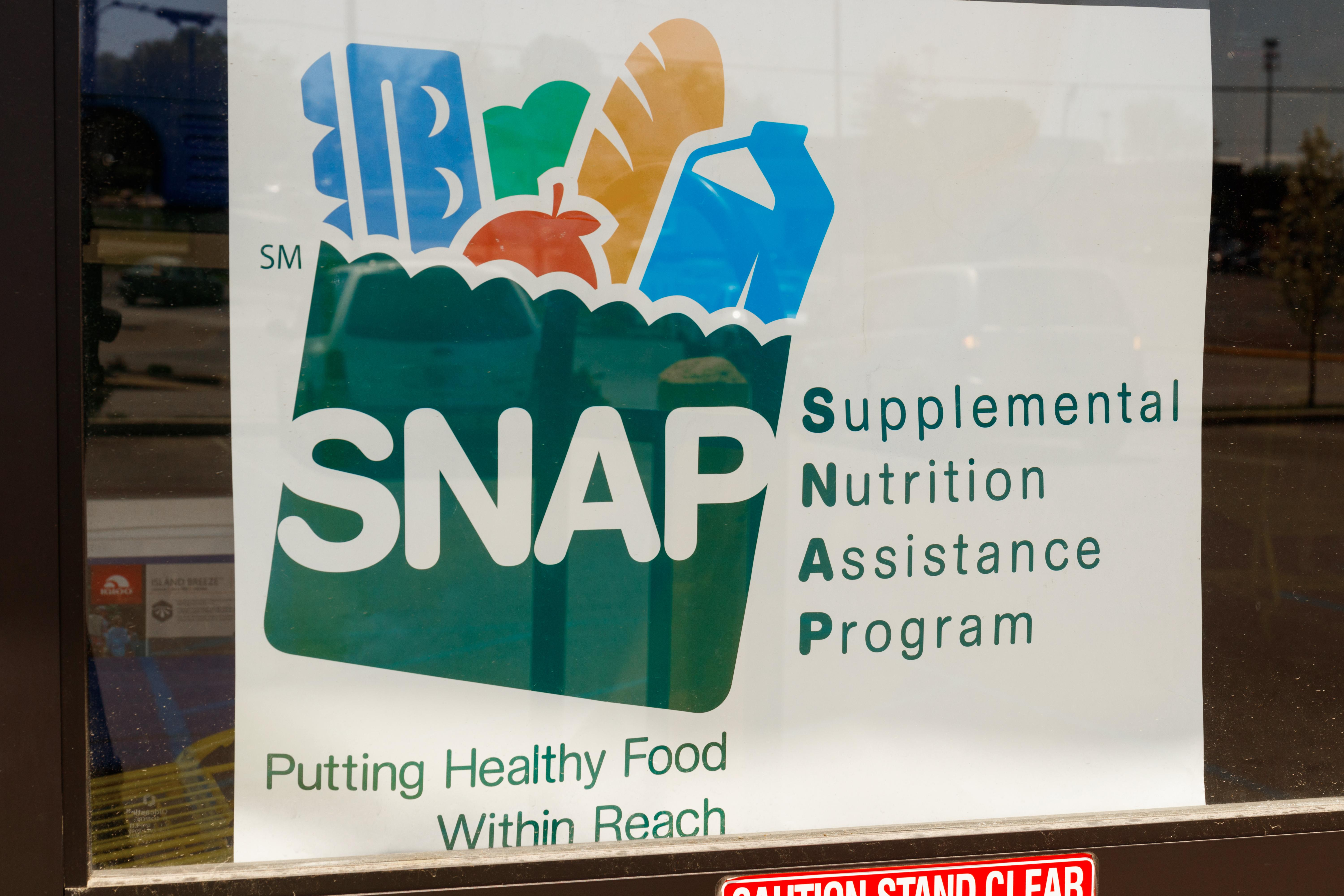 Window poster for SNAP (supplemental nutrition assistance program)
