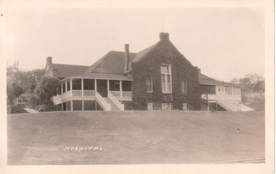 Black and white postcard ca. 1910 showing the Sonoma State Home (Hospital).