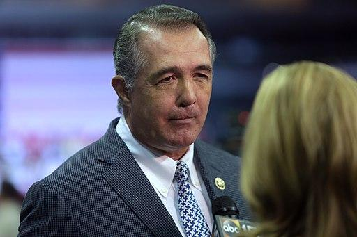 Rep. Trent Franks speaking with the media