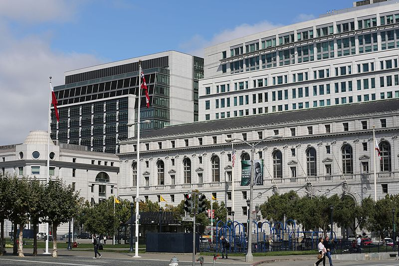 California Supreme Court building in San Francisco, CA