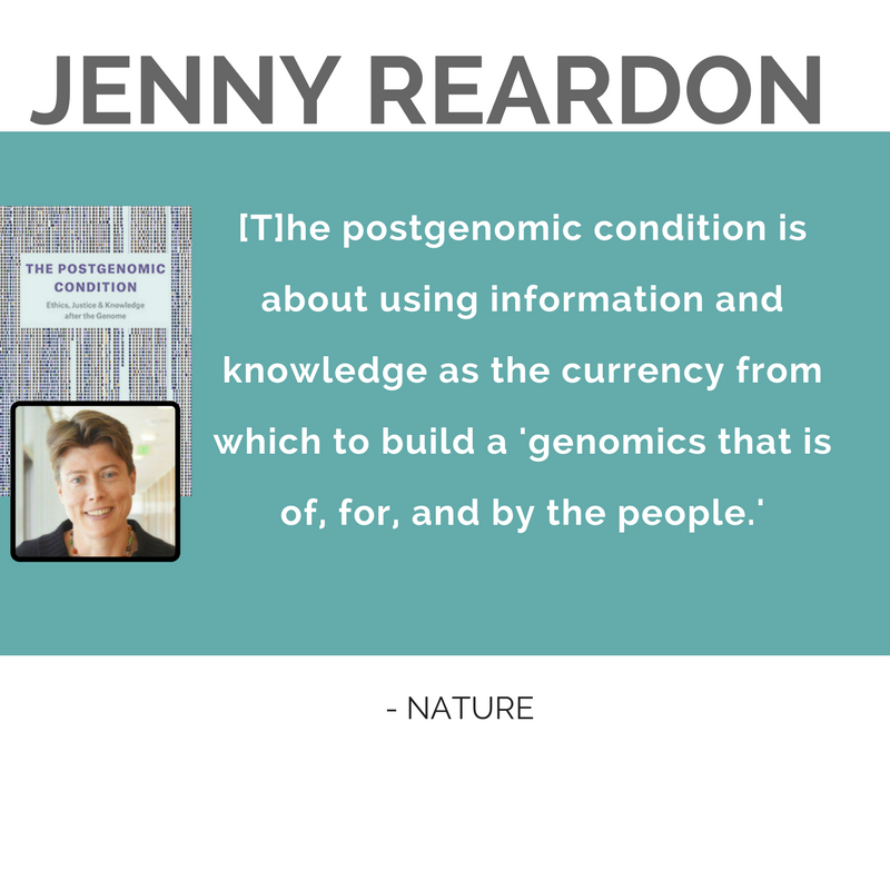 "Quote from Nature, ""The post genomic condition is about using information and knowledge as the currency from which to build a genomics that is of, for, and by the people.."