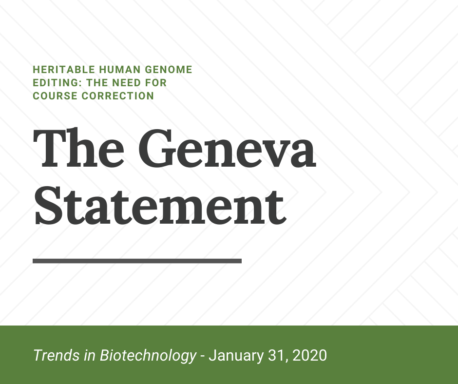 Green and white graphic with the words The Geneva Statement